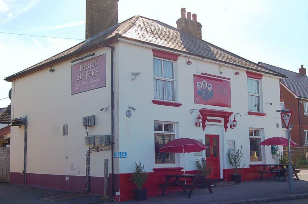 Three Sisters Pub, Rainham, Kent. From Outside