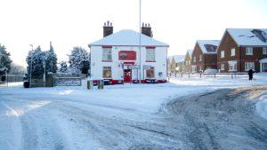 Winter at the Three Sisters Pub in Rainham, Kent