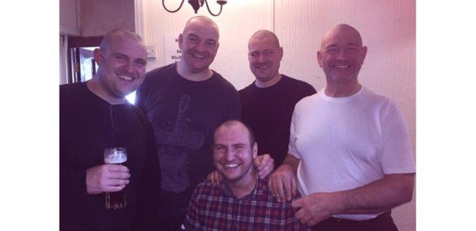 Head Shave for Cancer at Three Sisters Pub, Rainham
