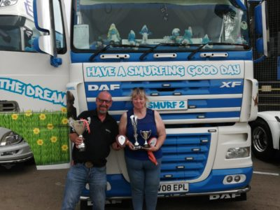Kevin and Ros with their winning truck
